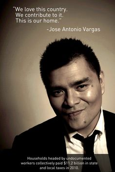 The absolutely AMAZING Jose Antonio Vargas wrote up an inspiring piece for us today. Click through for the whole thing, including research sources. Isn't it about time we had an adult conversation about immigration?