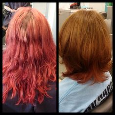 Major transformation from grown out and washed out fuschia hair color back to the natural brown hair color. #salonheadcandy #wellahair #transformation #instalike #inspiration #picoftheday #awesome #southjersey #salonlife #follow #haircolor #lpweeklydo #btcpics #beautiful #beforeandafter #bumbleandbumble #njhair #njbeauty #nofilter #naturalhair #makeover #modernsalon