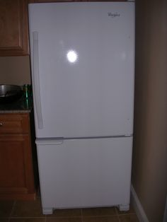 My mother and sister chipped in $300 each so I could get the exact refrigerator I wanted: white, with the freezer on the bottom.  Brand new!!