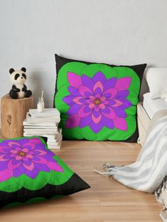 """Mandala Lotus Flower "" Floor Pillow by Pultzar 
