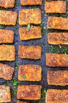 Vegan/Gluten-free and super crispy! The post Easy Baked Tofu Nuggets. Vegan/Gluten-free and super crispy! appeared first on Diet. Firm Tofu Recipes, Veggie Recipes, Whole Food Recipes, Vegetarian Recipes, Cooking Recipes, Cooking Ideas, Vegan Vegetarian, Free Recipes, Tofu Dishes