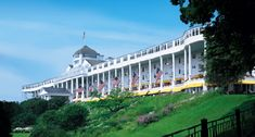 Grand Hotel on Mackinac Island Michigan....This is where the movie Some Where In Time  was filmed