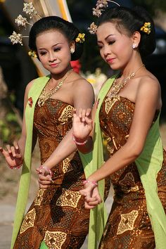 Beautiful Bedaya Dancer. Bedaya, traditional dance of Central Java, Indonesia.