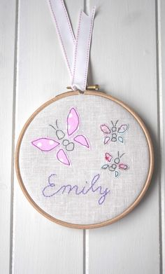 Childrens Personalised Butterfly Nursery by LinenandLaceHandmade