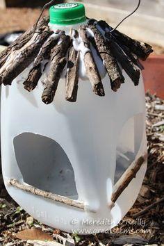 Wildlife Projects for Kids: Milk Jug Bird Feeders | Great Stems