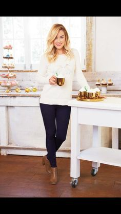 Cutest look from Lauren Conrad. Looks so cozy and chic!