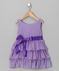 Take a look at the Lilac Ruffle Tier Dress - Toddler & Girls on #zulily today!