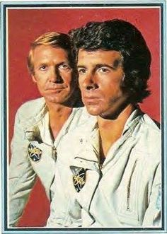 Colonel Alan Virdon (Ron Harper) & Major Peter J. Burke (James Naughton) - Planet of the Apes: The TV Series Star Trek Cross Stitch, Plant Of The Apes, Ron Harper, Sci Fi Tv Series, Classic Image, Great Tv Shows, Original Movie, Childhood Memories, Science Fiction