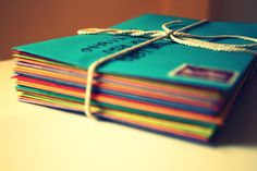 Handwritten letters...a lost art and neat way to communicate or send invitations or just show someone you care. :)