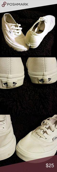 Women's VANS White VANS unisex women's 6 Vans Shoes Sneakers