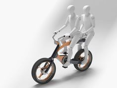 A cross between a BMW and a fat bike, the Duovelo uses a sliding mechanism to reveal a second seat for a passenger.