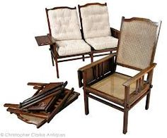 Anglo-Indian Sofa and 2 chairs.  circa 1900.  www.campaignfurniture.com