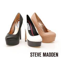 STEVE MADDEN -- 氣勢首選高水台優品牌雅經典高跟鞋 -- 氣質膚 - Yahoo!奇摩購物中心