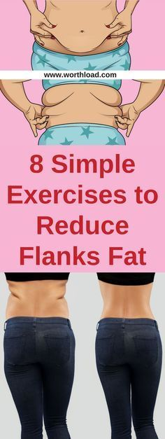 8 Simple Exercises to Reduce Flanks Fat – Women'z Fitness Fitness Workouts, Easy Workouts, Fitness Tips, Fitness Goals, Workout Routines, Fitness Men, Fitness Motivation, Do Exercise, Excercise