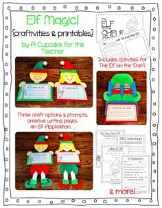 """Elf Magic"" Craftivities & Printables"