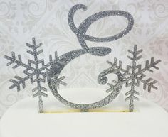 5 Tall Glitter Monogram Initial  & 2 by SpectacularEvents on Etsy