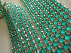 Emerald Rhinestone Banding  Pantone Color of the Year for Spring 2013 - Emerald  #pantone #emerald #etsy #wedding