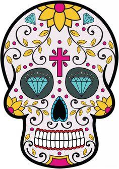 Sticker Calavera - Tete De Mort Mexicaine 8 - ref.d7446 | MPA Déco