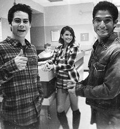 Behind the Scenes of Shelley Hennig, Dylan O'Brien and Tyler Posey filming episode 5x01 of Teen Wolf.