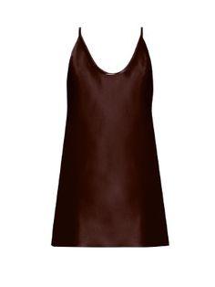 Scoop-neck silk-satin cami top   Raey   MATCHESFASHION.COM
