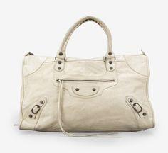 Balenciaga Ivory Chèvre Leather Work Bag