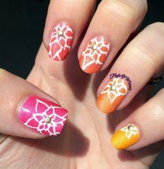 Blooming Flowers nail art  #colorful #springmani #nailart - bellashoot.com
