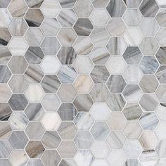 Skyline Polished Hexagon Marble Mosaics 10 3/8x12 - Country Floors of America LLC.