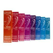 Online Price: $4.99 Ion Color Brilliance Brights Semi-Permanent Hair Color are hi-fashion hair colors designed to give vivid, boldly intense results.  SHOP AT SALLYBEAUTY.COM  Brilliantly intense hair color   No Ammonia or Peroxide   Formulated in Italy   Ready to use  -Magenta  -Red  -Orange  -Teal  -Aqua  -Sky Blue  -Purple  -Fuschia