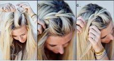 Coiffure facile à faire cheveux mi long ~ Photo coiffure simple - coupe cheveux simple