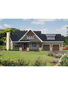 AmazingPlans.com House Plan #RO-1815 - 1857 sq ft with a bonus room - neat plan with angled great room. Dining area would need to be bigger, reasonable master bath but not a split bedroom plan. Nice bonus room above garage