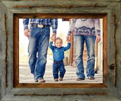 "Rustic Texas Vaquero 3"" Barnwood Picture Frames"