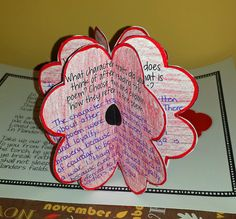 Remembrance Day in Canada - A Writing and Poppy Activity We Remember poppies for Veterans Day or Remembrance Day - A class I know completed these to give to the veterans that visited their school on November LOVE that idea! Remembrance Day Activities, Remembrance Day Poppy, Poppy Craft For Kids, Crafts For Kids, Arts And Crafts, Learning Log, November Crafts, Senior Activities, Anzac Day