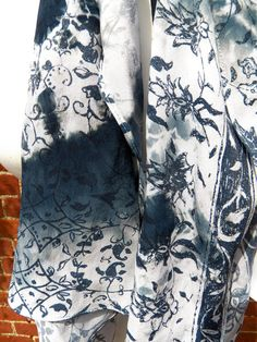 Hand screen printed tie dye elegant blue and by HollyEdenTextiles, £25.00