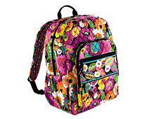 vera bradley backpack :) but in pink ribbon (like my blue wallet)