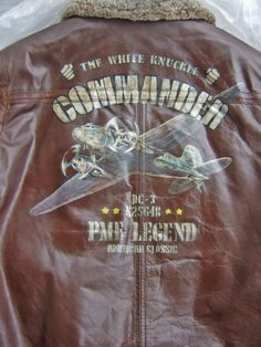Hand painted Nose Art by Josh Flight Jackets and PME Legend