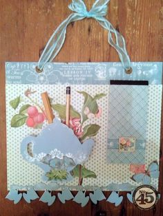 This Botanical Tea notice board by Clare is a charming project to use as a gift or piece of home decor. What a beautiful project! #graphic45