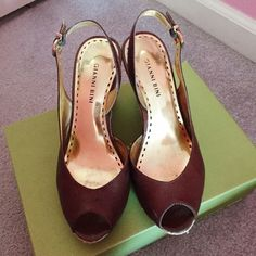 Gianni Bini wedges Brown and gold Gianni Bini wedges. Size 8.5. Some signs of wear but in good condition.  Let me know if you have any questions! Gianni Bini Shoes