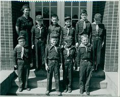Den mother Louise Davis and her Cub Scout troop in Church Hill, Tennessee, 1959. Photograph by David Peirce.