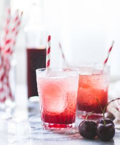 The Bojon Gourmet: Cherry Vanilla Maple Shrub {Drinking Vinegar} Non Alcoholic Drinks, Cocktail Drinks, Cocktail Recipes, Beverages, Cherry Cocktails, Drink Recipes, Salad Recipes, Shrub Drink, Mojito