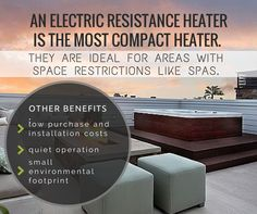 Electric Resistance Heater ♥ Loved and pinned by www.hottubequipment.ca