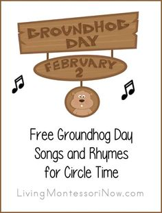 I love the silliness of Groundhog Day every February 2. So I had to add Groundhog Day songs to my Free Songs for Circle time series.