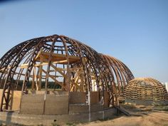 Hemp dome buildings created in ukraine by hempire ua and wooden dome homes