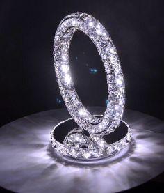 New Luxury Round LED Crystal table Lamp Diamond Ring Desk Reading Lighting Decor Lighting Uk, Bedside Lighting, Led Desk Lamp, Table Lamp, Moon Light Lamp, Bedside Reading Lamps, Salt Rock Lamp, White Light Bulbs, Rings