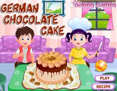 Free Cooking Games, Cooking Games For Girls, Baking Games, German Chocolate, Chocolate Cake, Cake Games, New Cooking, New Cake, Play Food