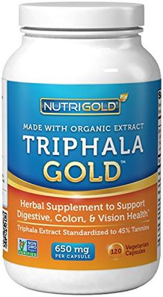 Organic Triphala GOLD, 650 mg, 120 Vegetarian Capsules (Organic Triphala Extract for Detox, Cleansing, and Weight-loss) GMO-free, Solvent-free, High Potency Extract * Read more  at the image link.