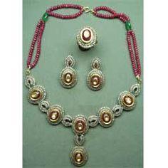 We have different types of kundan jewelry, Navratna Jewellery, Diamond Polki Jewellery, Uncut Diamond Jewellery from India.