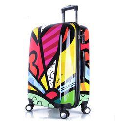 Malas-inHardside Macho e fêmea bagagem trole moda rodas universal mala, 20 24 e 28 polegadas impressas bagagem de Bagagem & Bags on Aliexpress.com | Alibaba Group