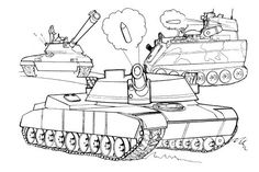 Free Coloring pages--lot of military pages