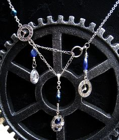 I love it so much!! *ugly cry*  Doctor Who Necklace Silver Timey Wimey bib by DemimondeArt on Etsy, $42.00