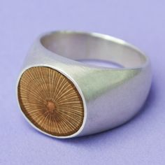 Fab.com | Sterling Round Wood Ring